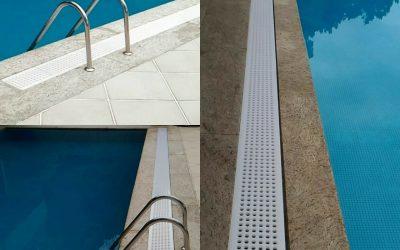 Inovação – Grelha para piscina e calha de piso